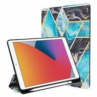 Slim Fit Smart with Trifold Stand For iPad 10.2 2019 2020 Black Blue Marble $22.99