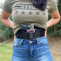 Clip amp; Carry STRAPT TAC Belly Band Holster Works w any IWB Kydex Gun Holster