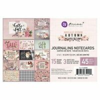 Prima Hello Pink Autumn Collection 4 x 6 Journaling Cards 654290