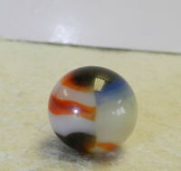 #13772m Small Vintage Peltier Glass NLR Liberty Marble .57 Inches