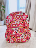 new Vera Bradley Pixie Blooms Campus backpack Pink travel FREE SHIPPING FAST