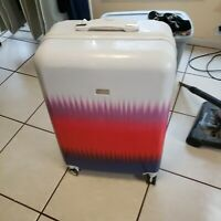 Steve Madden large hardshell suitcase spinner Rolling Luggage White Pink Red