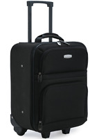 19quot; Carry On Luggage Rolling Suitcase Lightweight Foam Pad Travel Wheeled Black