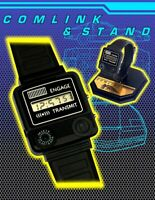 KNIGHT RIDER Comlink Watch Replica and Custom Display Stand RARE PROP L@@K