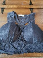 Hello Pink Navy Lace Bralette 3x Nwot