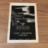 STA86 Advert 11x8quot; Westland Aircraft Limited Best Cabin Atmosphere Control