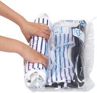 12 Travel Compression Bags Roll Up Space Saver Storage Suitcase Size Polyethylen