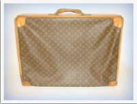 LOUIS VUITTON LUGGAGE vintage w monogram