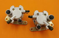 Front Brake Caliper Set For YAMAHA GRIZZLY 660 2002-2008 YFM660 WITH PADS
