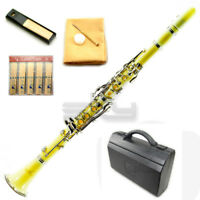 *GREAT GIFT* SKY Bb Yellow Clarinet Package Nickle Silver Keys German Style