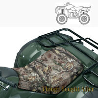 CAMO ATV SEAT COVER for ALL TERRAIN VEHICLE 4 Wheeler Quad Gear Four 3 Polyester