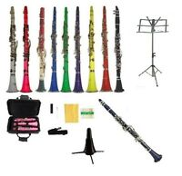 New Merano BB Clarinet+2 Stands~Black White Red Pink Blue Purple Green Yellow