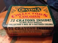 Crayola Collectors Colors Limited Edition Sealed Tin 72 Crayons Special 1991 VTG