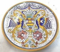 Deruta Pottery plate 12 inch RaffaellescoMade painted by hand in Italy.