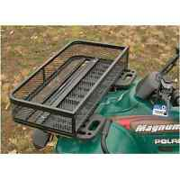 ATV Front Basket Rack Flat Drop Accessories Heavy Duty Metal Steel Mesh Box New