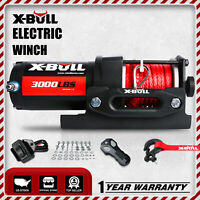 X-BULL 3000LBS Electric Winch 12V Winch UTV ATV Winch Synthetic Rope 4WD