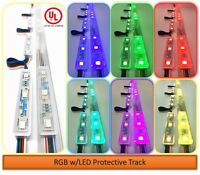 Storefront Window LED Lights Kit with Protective Tracks for Indoor