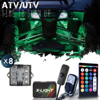 Honda Rancher 420 ATV UTV Quad 4Wheeler 8pc Pod Led Underglow Neon Body Kit