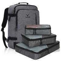 Carry-On Weekender Backpack Duffel Luggage Overnight Bags w 3pcs Packing Cubes
