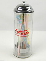 Coca Cola Straw Dispenser Holder Glass Kitchen Coca Cola Retro Look 10.5quot;