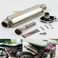 Universal 38-51mm Motorcycle Scooter Exhaust Muffler Pipe W/Silencer Slip On ATV