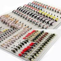 Fly Fishing Flies Midge Scud 126PCS/Set Promotion Portable Boxed Bead Head Nymph