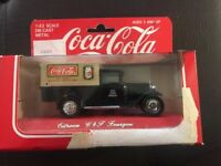 VINTAGE TOY COCA COLA Black DIECAST PICK-UP TRUCK 1979 HARTOY NIB FRENCH BOX - D