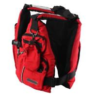 Fly Fishing Vest Outdoor Safety Life Jacket Multi Pockets Kayak Backpack Red New