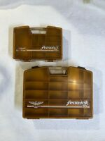 Vintage Fenwick Fishing Tackle Boxes Double Sided And RARE