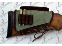 New Rifle Cartridge Holder Ammo Butt stock 4 Bullets. Canvas/Leather. Made in UA