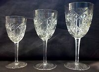 French Baccarat Glasses Deep Cut Crystal Stemware Glassware Set 60 Pieces