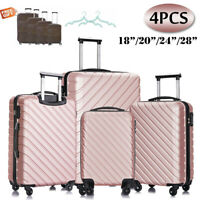 4 Piece Luggage Set Hardside PC Carry On Bag Travel Trolley Suitcase Spinner