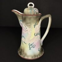 Nippon Moriage Dragonware Chocolate Pot Dragon Pitcher Antique Pagoda Mark