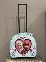 NEW Disney Store Frozen Elsa & Anna Rolling Suitcase Luggage - So Cute!