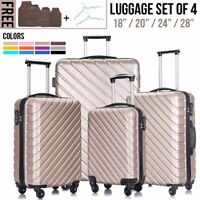 345Pcs Travel Luggage Set Bag Trolley Spinner Suitcase ABS wLock 18