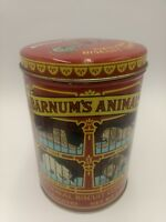 Barnum's Animals Crackers Tin + Box Unopened By Nabisco Caged Old Design Barnums