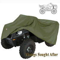 OLIVE GREEN ATV STORAGE COVER for LARGE 4-Wheeler Quad Utility Dust Tarp Army