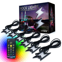 6PC Z-Force Remote Control Decorative RGB LED Rock Light for Jeep Truck UTV ATV