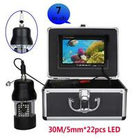 15m/30m Underwater Fishing Video Camera Fish Finder 7Inch Color Screen 22 LEDs
