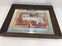 Vintage Seagram's - 1934 St Louis Cardinals - Wall Mirror Advertising 20