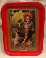 "***Coca Cola Vintage Tray ""Barefoot Boy"" 1991 Art Print Great Shape.***"