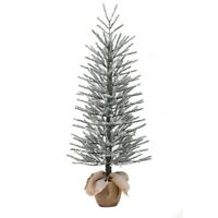 Holiday Time Artificial Christmas Trees Unlit 4' Snow Burlap Artificial Tree