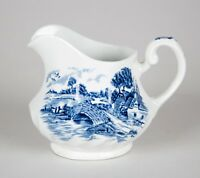 Staffordshire Bluebrook Creamer Blue Ironstone Made in England