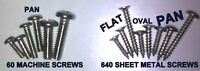 699 PC STAINLESS STEEL SCREWS INTERIOR EXTERIOR TRIM MOULDING UPHOLSTERY NO RUST