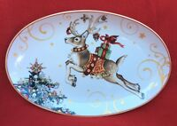 Williams Sonoma Twas The Night Before Christmas Reindeer Small Oval Platter