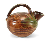 VINTAGE EUROPEAN ART POTTERY PITCHER JUG W/ ORGANIC FLOWING GLAZE LIKELY FRENCH