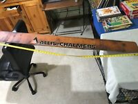 vintage ALLIS CHALMERS  metal sign 5 Foot long Great man cave wall decor