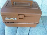 FENWICK TACKLE BOX Model 5.6  DOUBLE SIDED 6 TRAY. Fishing Tackle Box.