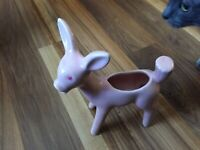 "Vintage Shawnee Pottery Large 9"" tall Pink Deer Planter Figurine"