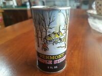 Vintage Vermont Maple Syrup Tin Can Advertising Fairfield Farms Autumn Full NOS